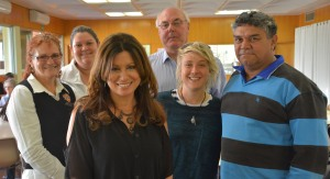 (F) Annalise Jennings Dynamic Exchange, (L-R) Kerry Crumblin CEO CACH, Julie Fox Cunnamulla State School, Lindsay Godfrey Paroo Shire Mayor, Nicole Gibson National Mental Health Commissioner, Lawrence 'Cheesie' Anderson Cunnamulla Disability Services.